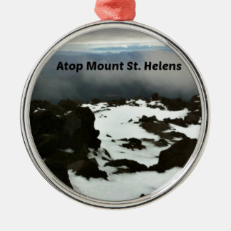 View from the top of Mt. St. Helens Christmas Ornament
