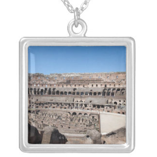 View from the upper gallery. 2 silver plated necklace