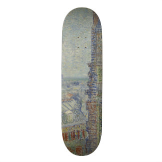 View from Theo's Apartment by Vincent Van Gogh 18.1 Cm Old School Skateboard Deck