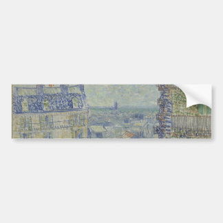 View from Theo's Apartment by Vincent Van Gogh Bumper Sticker