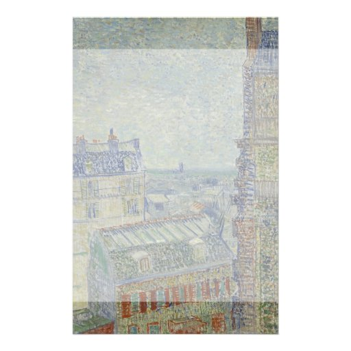 View from Theo's Apartment by Vincent Van Gogh Flyer