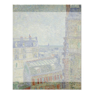 View from Theo's Apartment by Vincent Van Gogh Full Color Flyer