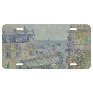 View from Theo's Apartment by Vincent Van Gogh License Plate