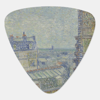 View from Theo's Apartment by Vincent Van Gogh Plectrum