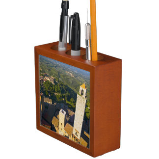 View From Tower, San Gimignano, Siena, Tuscany Desk Organiser