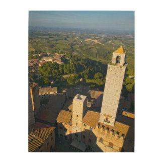 View From Tower, San Gimignano, Siena, Tuscany Wood Wall Decor