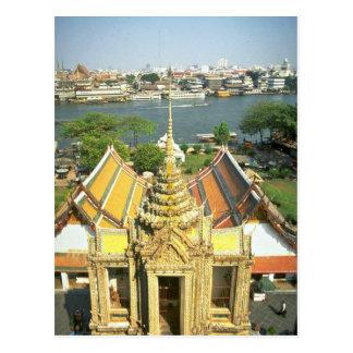 View from Wat Arun over Chao Phraya river, Bangkok Postcard