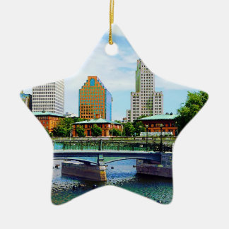 View from Waterplace Park, Providence, RI Christmas Ornament
