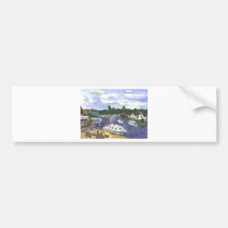 View from Wroxham Bridge Norfolk Broads Bumper Sticker
