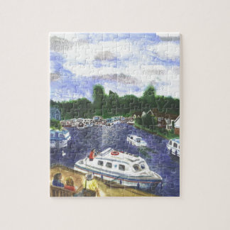 View from Wroxham Bridge Norfolk Broads Jigsaw Puzzle