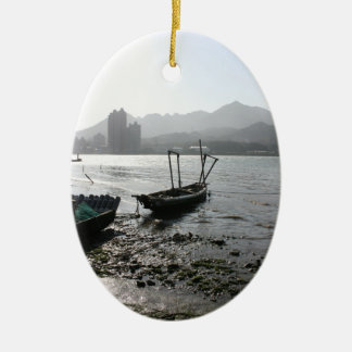View from Zhuwei towards Luzhou, Taiwan Christmas Ornament