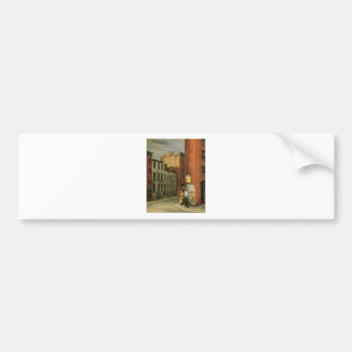 View in Chambers Street, New York City c. 1936 Bumper Sticker