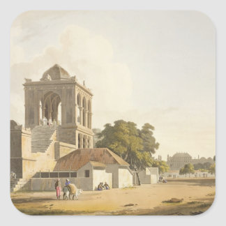 View in the Fort, Madura, plate 14 from Part 2 of Square Sticker