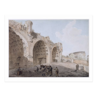 View in the Roman Forum (The Temple of Peace) 1779 Postcard
