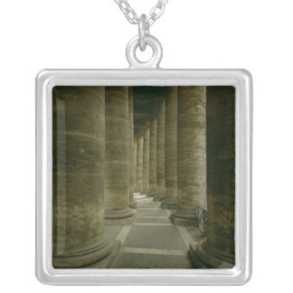 View inside the colonnade silver plated necklace