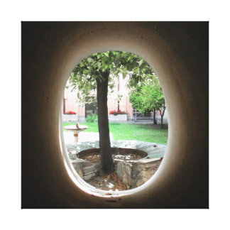 View into a Garden Stretched Canvas Prints