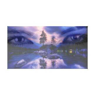 View into the freedom canvas print