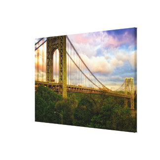 View looking South - West from Manhattan Canvas Print