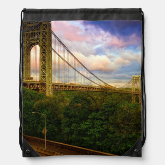 View looking South - West from Manhattan Drawstring Bag