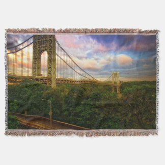 View looking South - West from Manhattan Throw Blanket