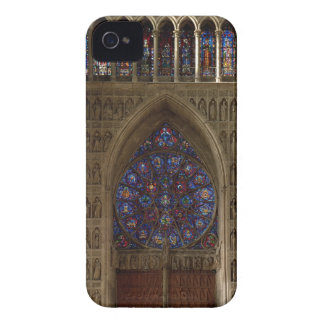 View looking west from the nave, rose window desig iPhone 4 Case-Mate case