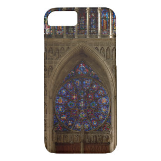 View looking west from the nave, rose window desig iPhone 8/7 case
