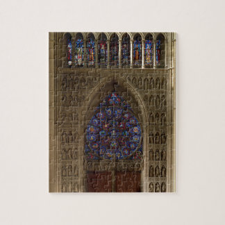 View looking west from the nave, rose window desig jigsaw puzzle