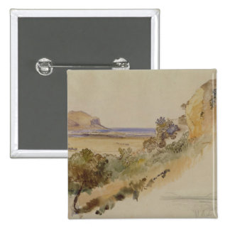 View near Palermo, 1847 (pen & ink with w/c over p 15 Cm Square Badge