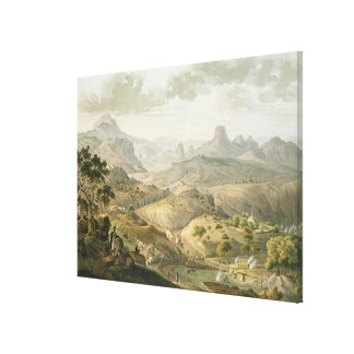 View near the Village of Asceriah, in Abyssinia, e Canvas Print