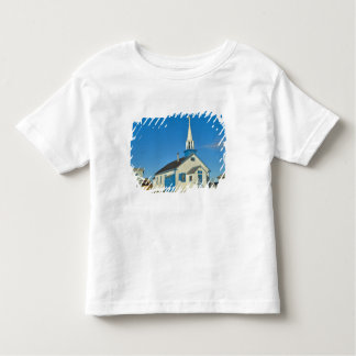 View of a blue and white church in Dene tribe Toddler T-Shirt
