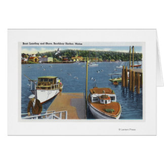 View of a Boat Landing and the Shore Card