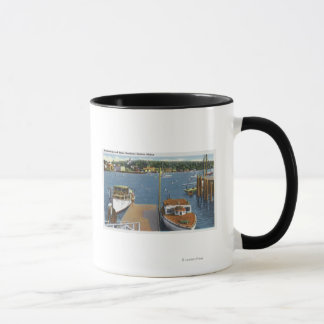 View of a Boat Landing and the Shore Mug