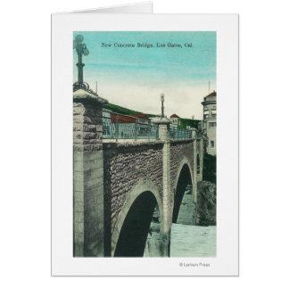 View of a Concrete BridgeLos Gatos, CA Greeting Card