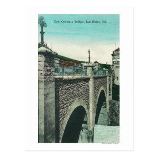 View of a Concrete BridgeLos Gatos, CA Postcard
