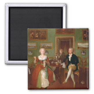 View of a drawing room, 1780 magnet