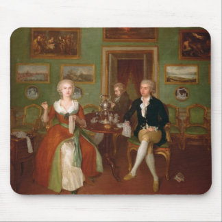View of a drawing room, 1780 mouse pad