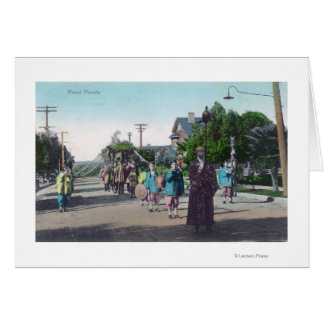 View of a Floral ParadeHollister, CA Greeting Card