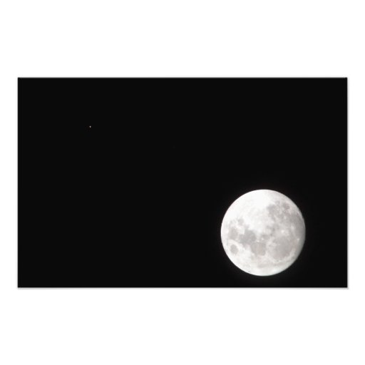 View of a full Moon, also shows Mars Art Photo