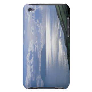 view of a grassy slope by the sea iPod Case-Mate case