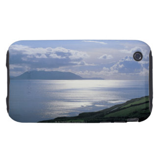 view of a grassy slope by the sea tough iPhone 3 case