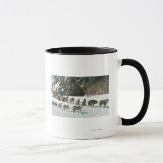 View of a Husky Dog-Sled Team Mug
