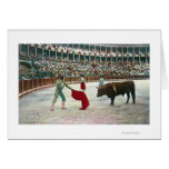 View of a Matador About to Slay the BullSpain Greeting Cards