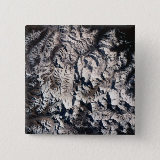 View of a Mountain Range 15 Cm Square Badge