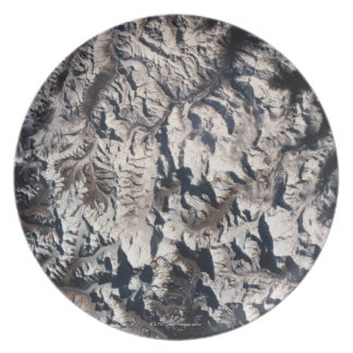 View of a Mountain Range Plate