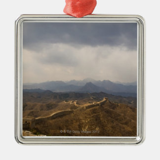 View of a section of the Great Wall of China Christmas Ornament