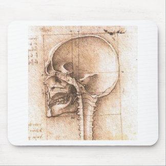 View of a Skull by Leonardo Da Vinci c. 1489 Mouse Mat