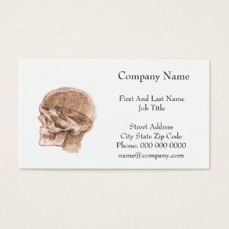 View of a Skull Leonardo da Vinci Business Card
