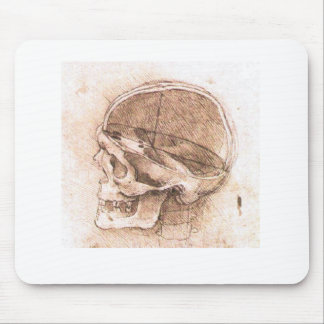 View of a Skull Leonardo da Vinci Mouse Mat