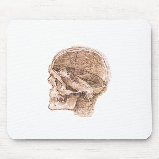 View of a Skull Leonardo da Vinci Mouse Pads