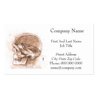 View of a Skull Leonardo da Vinci Pack Of Standard Business Cards
